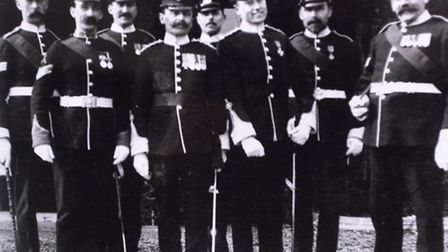 Frank Beck, second from the left