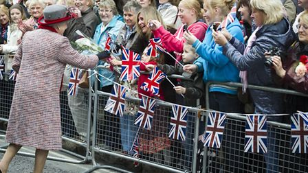 Queen Elizabeth II during a walkabout at Maldon High Street