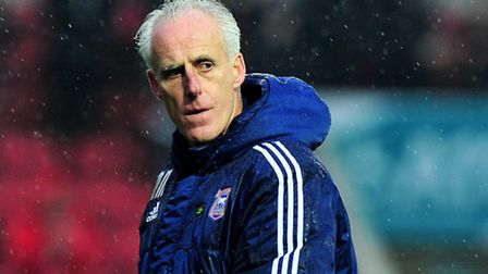 Mick McCarthy, Manager of Ipswich Town looks dejected after losingBristol City v Ipswich Town