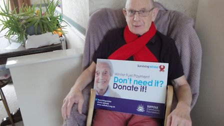 Paul Johnson, 67 of west Ipswich, who has received support from the Surviving Winter campaign