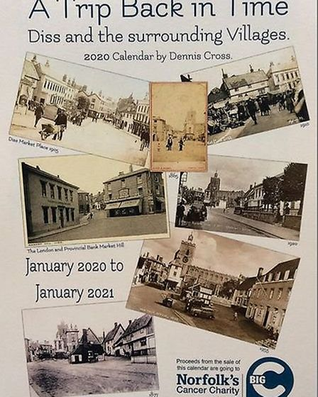 The 2021 calendar in aid of the Big C includes dozens of images from the history of Diss. Picture: D
