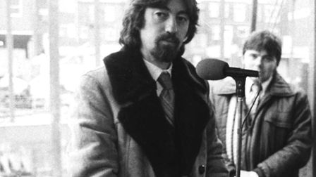 Trevor Nunn at the groundbreaking for the Wolsey Theatre in 1978