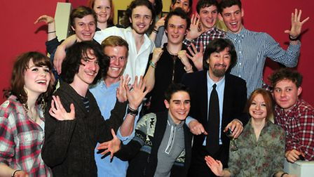 Sir Trevor Nunn with Young Performers at the opening, of the 'New High Street Exhibition Gallery', i
