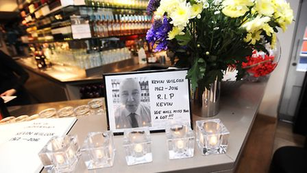 Tribute to waiter from Bury Prezzo Kevin Wilcox who has died of a heart attack.