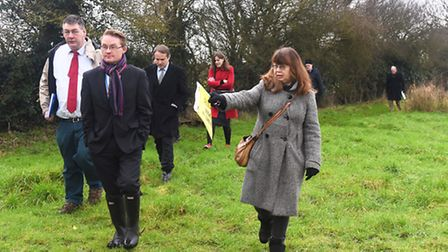 Local campaigners gather in silent protest against the prospective development of rushmere memorial