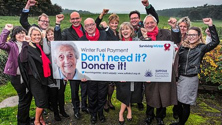 The launch of the Surviving Winter campaign, run by the Suffolk Community Foundation