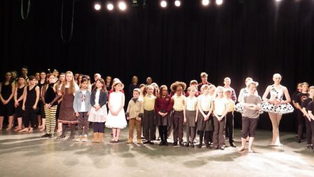 Youngsters on stage at the Sudbury Festival of Performing Arts finale concert last year
