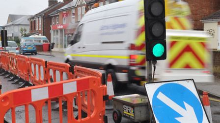 The roadworks are taking place between the Playford Road and Bent Lane junctions