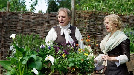 Kate Winslet and Alan Rickman in the film A Little Chaos