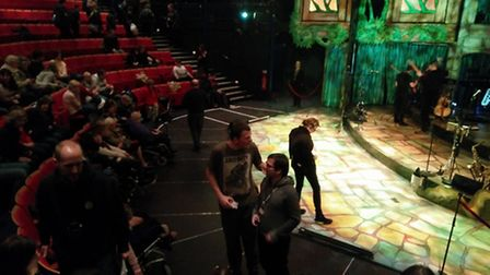 The New Wolsey Theatre's new Bradbury platform, which can accommodate many wheelchairs