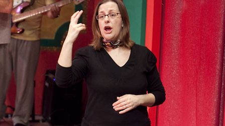 A British sign language interpreted performance of the New Wolsey panto