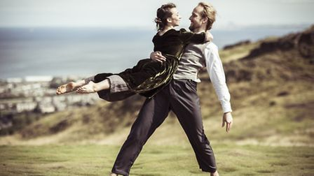 Faith Prendergast plays music prodigy Morfydd Owen and Daniel Whiley is her husband in the dance the