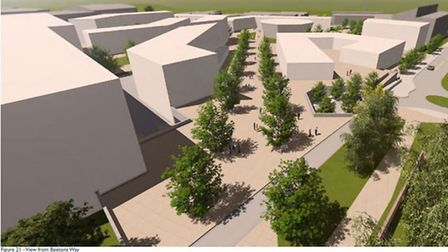 Artists impressions in the updated Western Way masterplan
