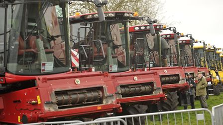 Machines line up at the 56th annual Doe Show.