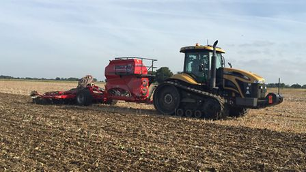 This year Brian Barker's farm started a new, exciting era with the adoption of strip-till, direct dr