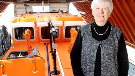 Sandra Saint, who has been honoured by the RNLI with a Gold Badge for her work