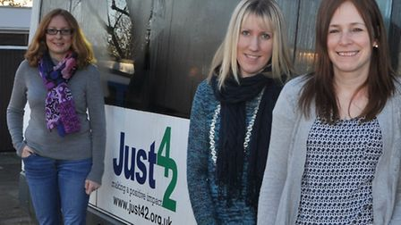 From left, Caroline Rutherford, Sarah Smith and and Ruth Blunt of Just 42, the Woodbridge-based char