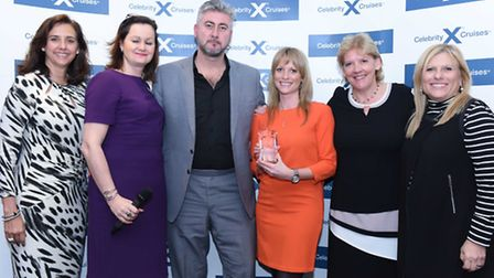 The Reader Offers team at the Celebrity Cruises Travel Agent Achievement Awards. Photo: Steve Dunl