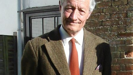 Roger Perry pictured at his home in Wetheringsett in 2012.