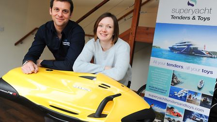 Josh and Claire Richardson who run Superyacht Tenders & Toys, which supplies accessories and watersp
