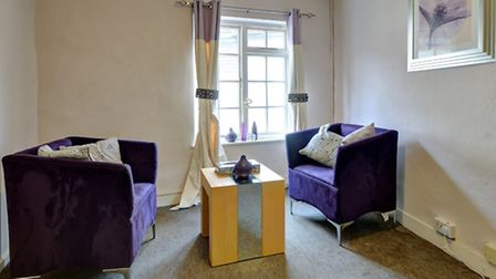 A counselling room at Survivors in Transition