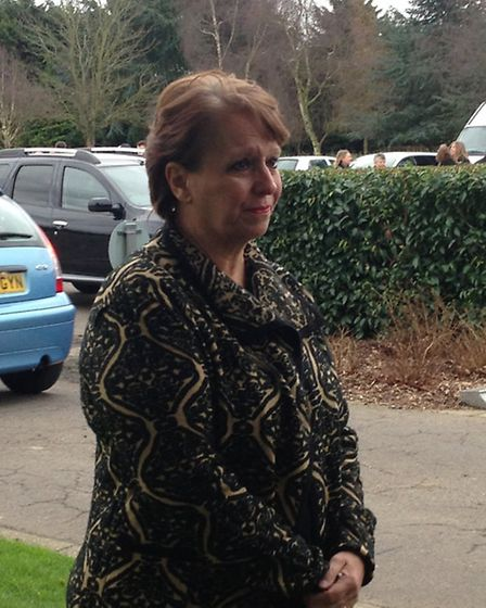 Julie Curtis, manager of De La Mer Care Home, Walton-on-the-Naze, speaking after the funeral of res