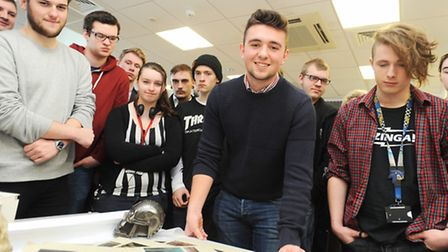 Ex West Suffolk College student Alex Unsworth who recently worked on the latest Star Wars film is re