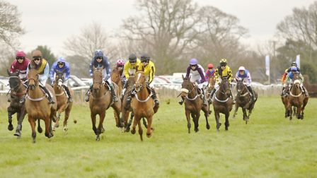 Novice riders take part in the Birketts PPORA Club Members Race at Higham.
