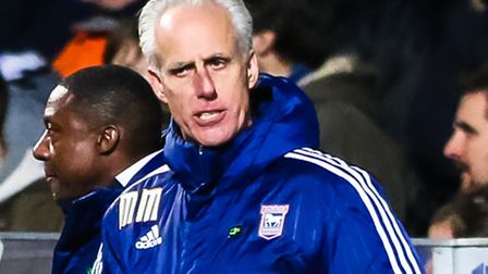 Town manager Mick McCarthy pictured during the Ipswich Town v Readiing (Championship) football match