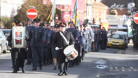 Air Training Cadets corps parading through Felixstowe to mark 75th anniversary of the movement