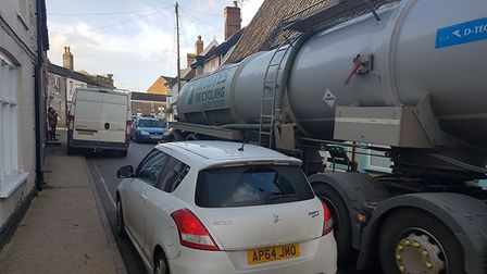 Eye Town Council wants to see a traffic order banning HGVs from its narrow streets. Picture: Nick En