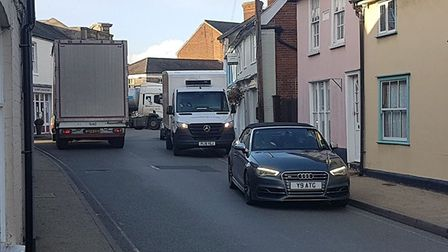 Residents concerns about the number of lorries using Eye town centre have seen the creation of the T