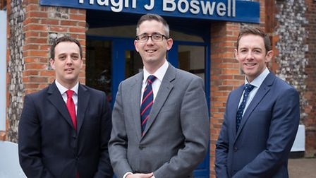 From left, Ashley Minors, director, Peter Foster, managing director, and Nick Chambers, chief execut
