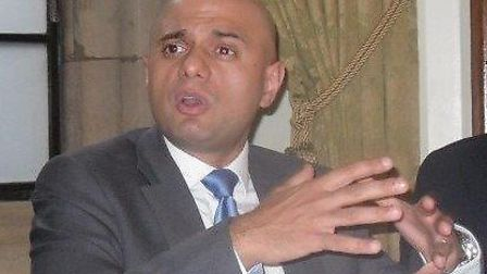 Business Secretary Sajid Javid at the Suffolk Chamber lunch event.