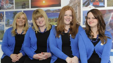 From left, Susanne Sutton, Gemma Deakin, Vicki Wood and Nicola Atkinson from the Ipswich branch of F