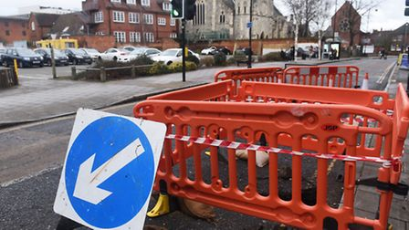 Tacket Street in Ipswich is likely to remain closed for a week