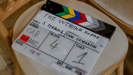 Local film professionals shooting the film From Suffolk With Love which is designed to attract film