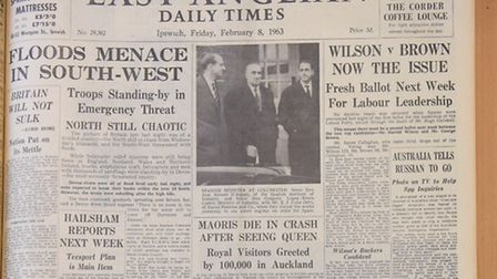 The front page of the EADT from 1963