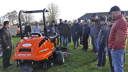 Members of the Norwegian Greenkeepers' Association during their visit to Ransomes Jacobsen's Europea