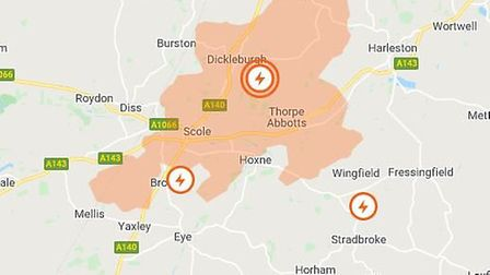 Homes have been left without power due to overhead cable fault. Picture: UK Power Networks