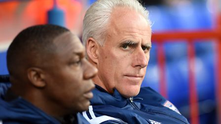 Mick McCarthy with assistant Terry Connor