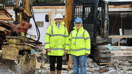 Hannah Sharland, estates and facilities project manager at West Suffolk Hospital, and Paul Hutton, s