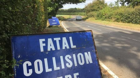 Police appeal for witnesses where cyclist Kenneth Cobourne was killed in an accident on the B1077 be