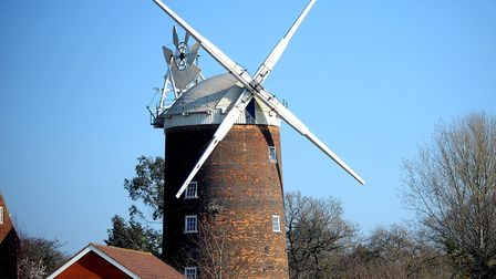 Old Buckenham Mill, which has been added to Historic England Heritage at Risk Register, pictured in