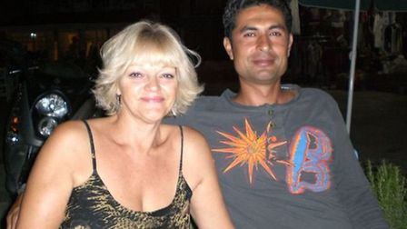 Jo Tempest and partner Baris. They've been together more than 10 years