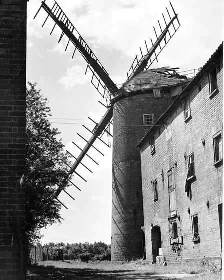 Derelict and disused Old Buckenham Mill in 1966. Picture: Archant Library