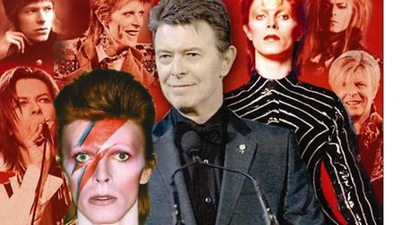 The many faces of David Bowie, whom Huey Morgan was proud to call friend. Graphic: Annette Hudson.
