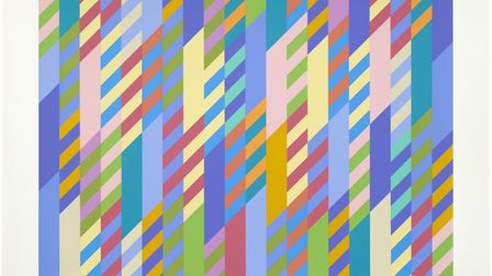 June, screenprint, 2002 by Bridget Riley part of a Diss exhibition. Picture: Diss Corn Hall