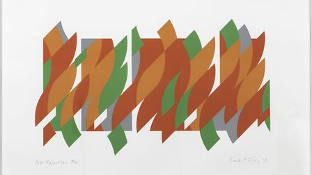 Riley After Rajasthan 2013 by Bridget Riley that is part of a Diss exhibition. Picture: Diss Corn Ha