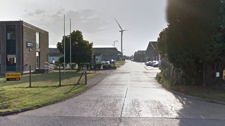 Brome Industrial Park at Eye where vehicle were broken into. Picture: Google